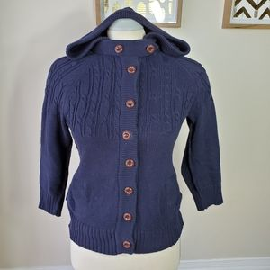 American Eagle Outfitters Blue Hoodie Cardigan